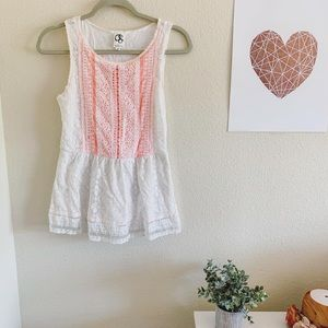 Anthropologie Lace Flare Top